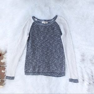 Loft sweater xsmall white black pullover